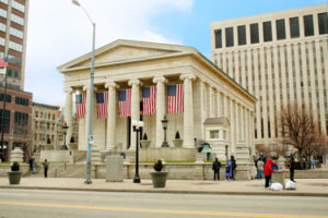 Photo of old Montgomery County Courthouse in Dayton, Ohio.
